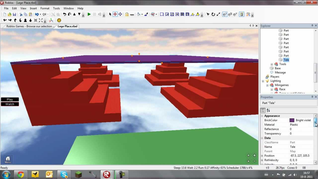 how to make a minigame place in roblox