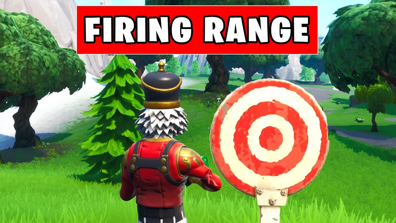 Hit Easy Firing Range Target Location Hard Locations Fortnite Season 10 Week 9 Challenges