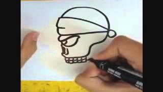 Как нарисовать череп скилета.Dan Probel(Подпишись и паставте лайк.Соберём 100 лайков, новое видео., 2014-11-16T19:10:58.000Z)