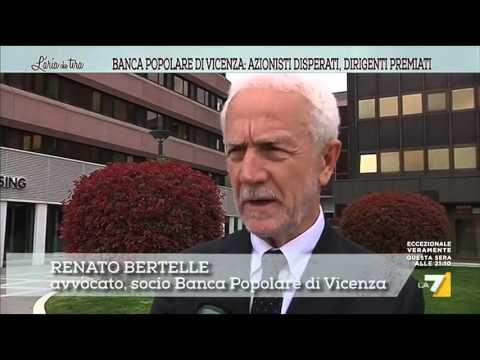 Banca Popolare di Vicenza: azionisti disperati, dirigenti premiati