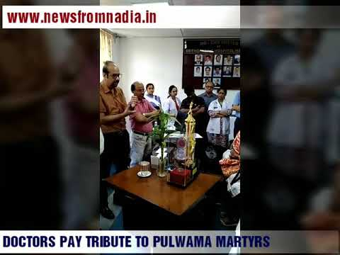 ER DOCTORS PAY TRIBUTES TO PULWAMA MARTYRS