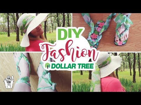 DOLLAR TREE SANDALS AND HAT FASHION ACCESSORIES | DOLLAR TREE DIY