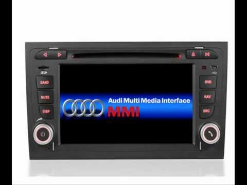 Audi a4 dvd gps navigation double 2 din radio in dash for Mueble 2 din audi a4 b6