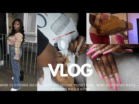WEEKLY VLOG | MINI PLT HAUL + GETTING HOUSE TOGETHER + GETTING MY NAILS DONE | BEAUTYBYBEMI