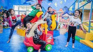 Kids Go To School | Chuns With Best Friends Play In Fairy Garden Children's Hide Seek Contest