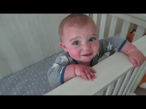 First Baby Nap | Baby Theo | Oxford Baby 4-in-1 Convertible Crib