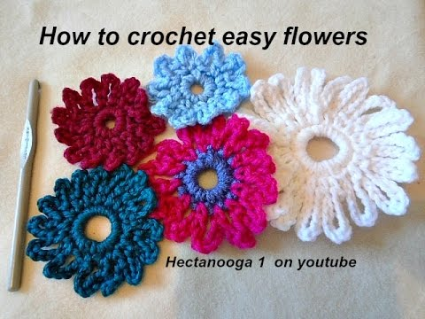 How To Crochet An Easy Crochet Flower 6 Chain Flower Crochet