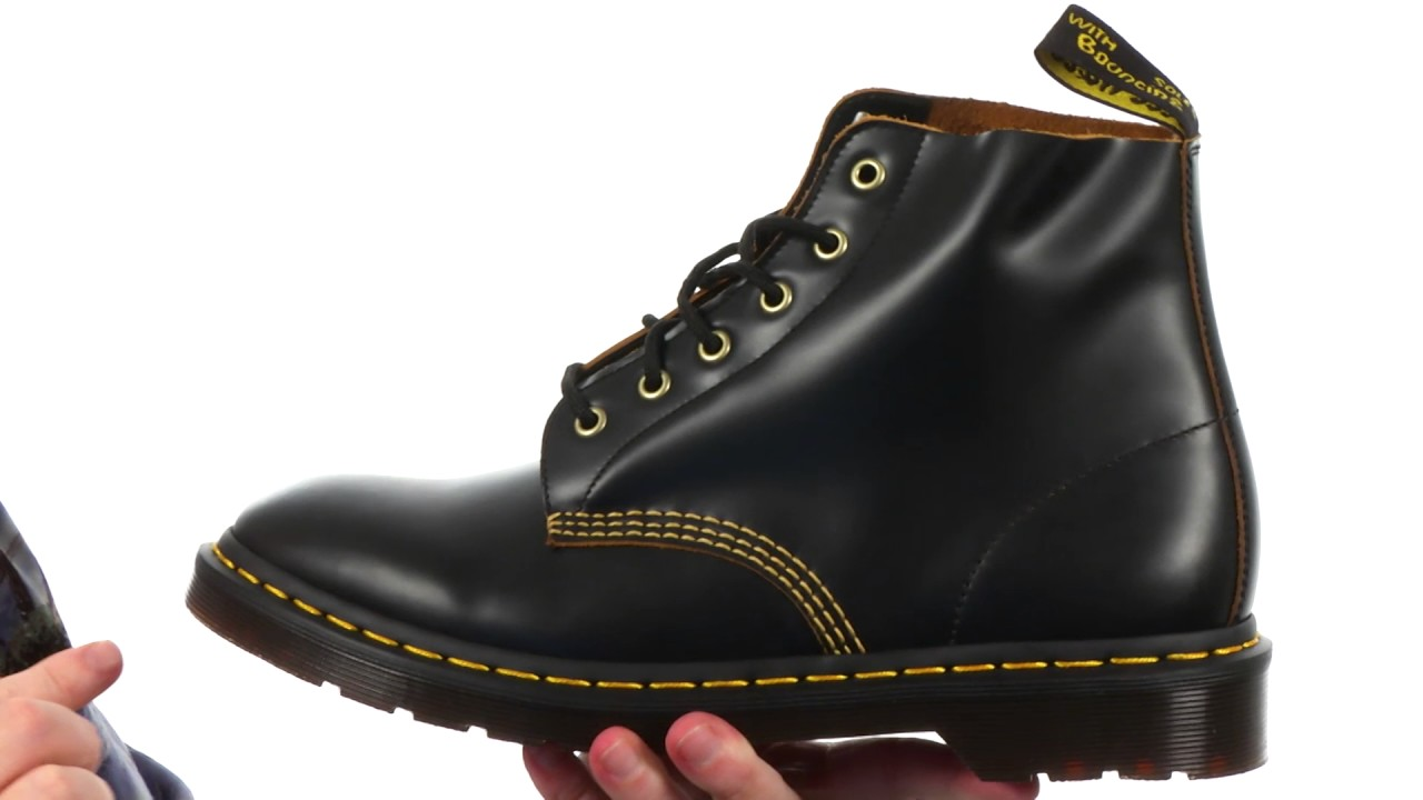 Dr. Martens 101 Smooth Archive 6-Eyelet Boot SKU  8904075 - YouTube 247f69e79e81