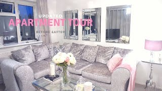 MY UPDATED FLAT/ APARTMENT TOUR | Before & Afters & Designing my apartment on a budget | JV HOME