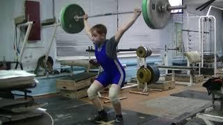 Маклаков Тимур, 13 лет, св 48 8 Рывок 56 кг Личный РЕКОРД!