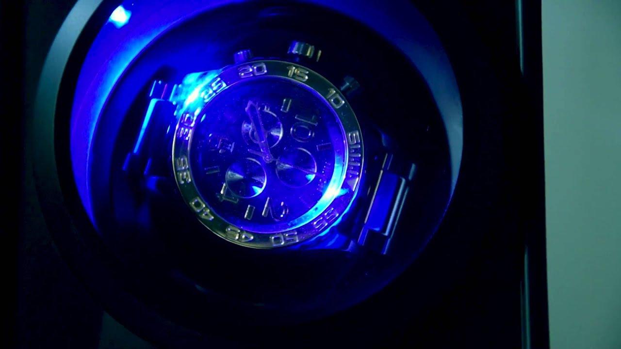 Klarstein 2 Uhren Led Mit Premium Für Uhrenbeweger St gallen Beleuchtung Yf6v7Ibgym