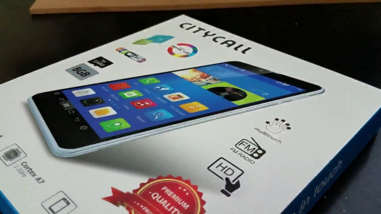Citycall Tab A12 features 7 0