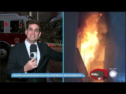 Repórter da RecordTV descreve momento em que prédio desabou em São Paulo