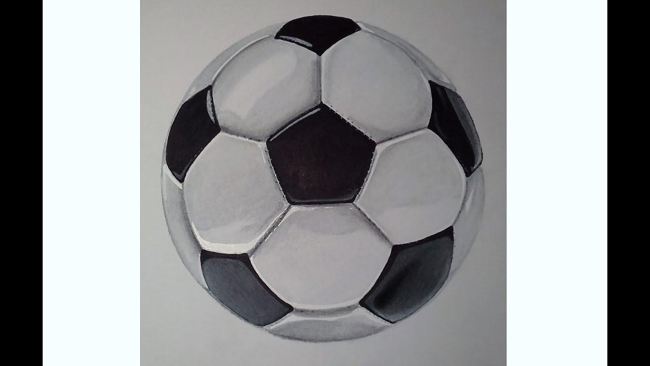 Tutoriel comment dessiner un ballon de foot r aliste speed drawing promarker et pastel sec - Comment dessiner un but de foot ...