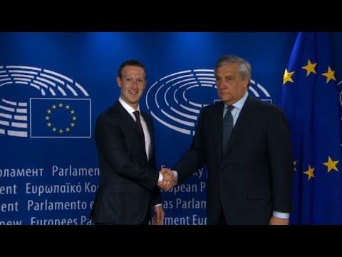 Mark Zuckerberg arrives at EU parliament for hearing