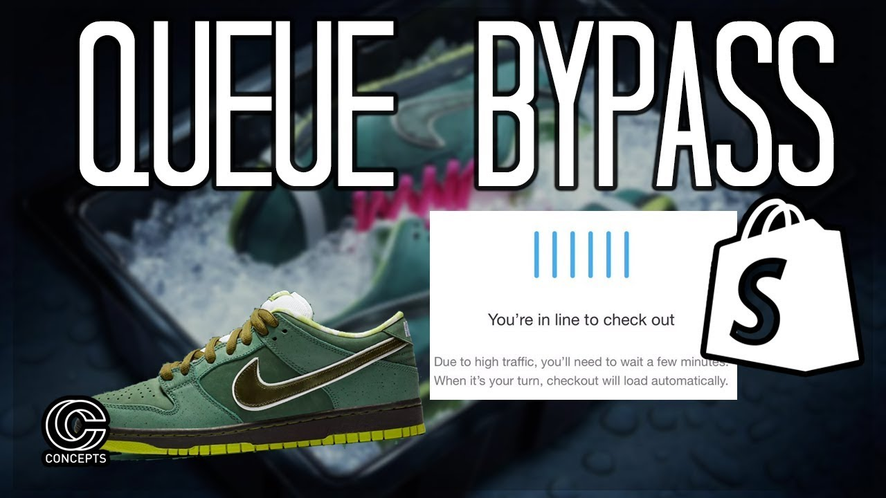 How to Cop SB Dunk Concepts Lobster QUEUE BYPASS SHOPIFY*
