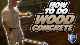 How To Do Wood Concrete