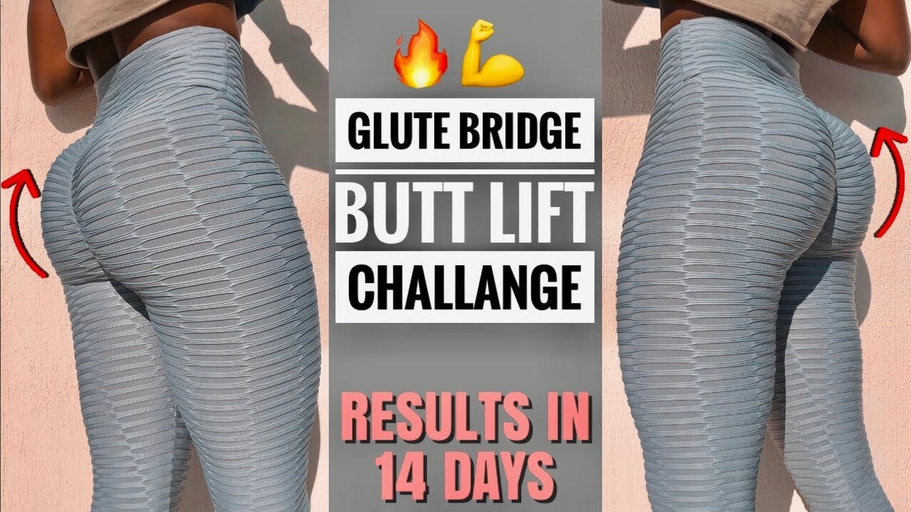 GLUTE BRIDGE Brazilian Butt Lift Challenge ♥ The Perfect Bubble Butt Workout~Build & Shape👉Booty