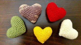 Tığ işi Örgü kalp nasıl yapılır. Amigurumi kalp