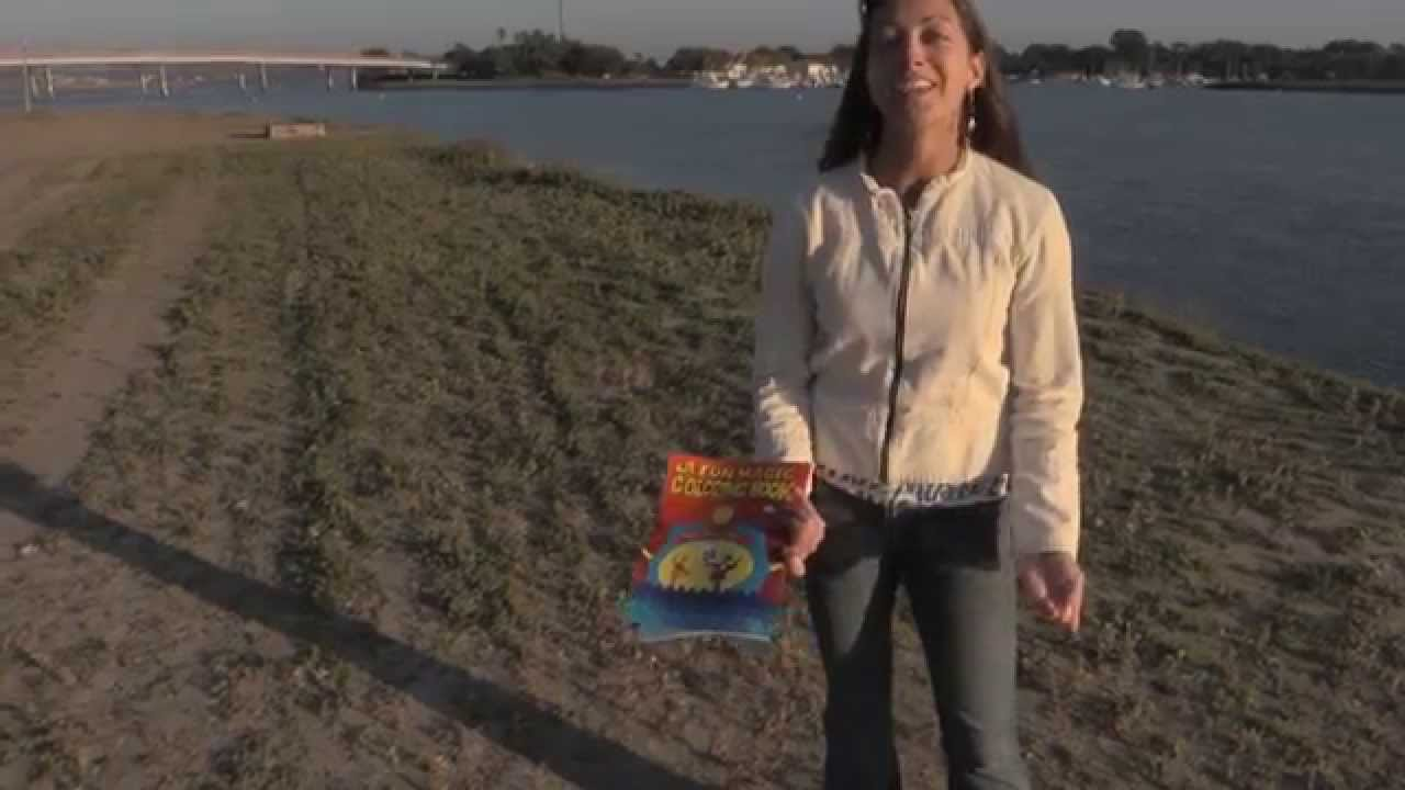 The magic coloring book trick - Cute Girl Does The Magic Coloring Book Trick