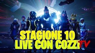 STAFFEL 10 LIVE JETZT! FORTNITE ITALIA - 3 KOSTENLOSE SKINS pro Monat !patacche