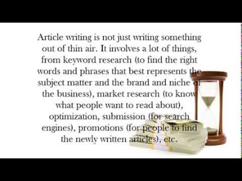 article writing: 2 Reasons to Get the Services of Article Writing Companies
