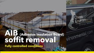 AIB (Asbestos Insulation Board) soffit removal. March 2013.