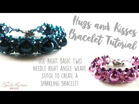 Hugs & Kisses Bracelet with Right Angle Weave