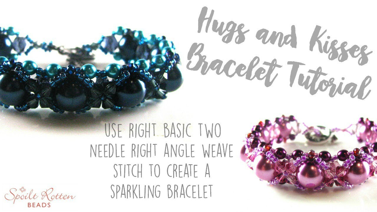 Hugs and kisses beaded bracelet tutorial link(img heavy) jewelry.