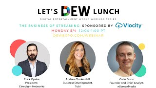 Let's DEW Lunch Webinar with Cinedigm Networks and Tubi (May 4, 2020)