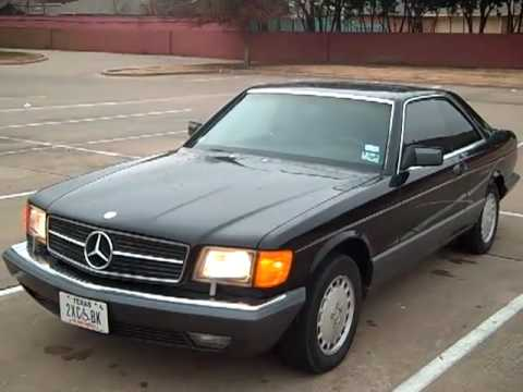 1991 mercedes benz sec 560 black on black youtube for 1991 mercedes benz