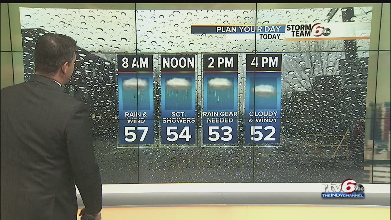 Monday morning weather -- ACTION: Wind and rain moving through