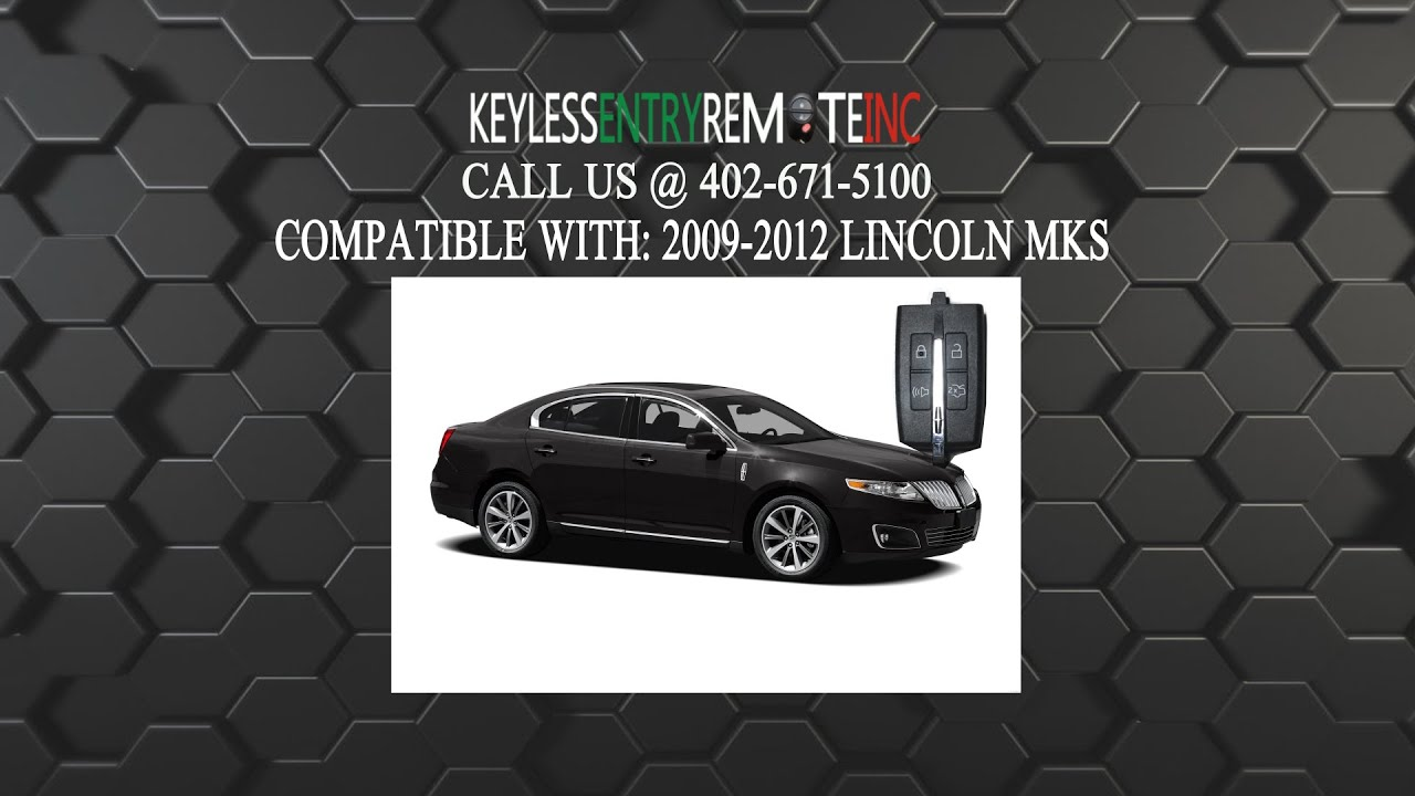 How To Replace Lincoln Mks Key Fob Battery 2009 2010 2011 2012 Youtube