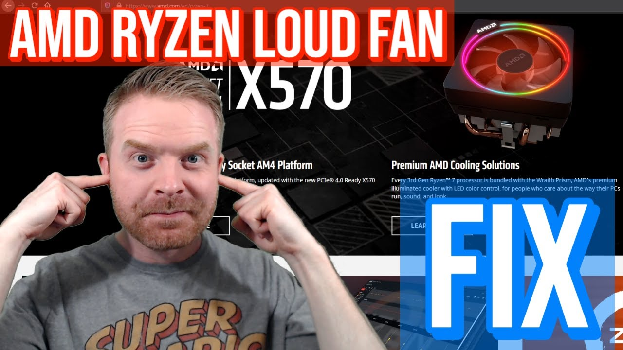 Amd Ryzen Loud Cpu Fan Noise Fix Stock Wraith Prism Cooler Youtube