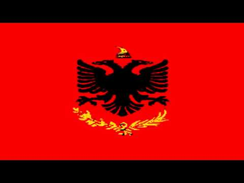 Bandera de Guerra del Reino de Albania (1928-34) - Flag of war of King of Albania (1928-34)