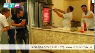 Приготовление кебаба в фастфуде
