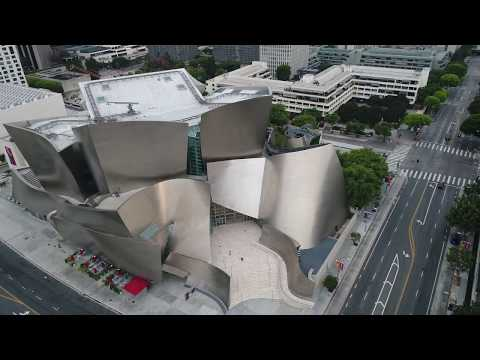 Los Angeles via Drone - Walt Disney Concert Hall (Frank Gehry)