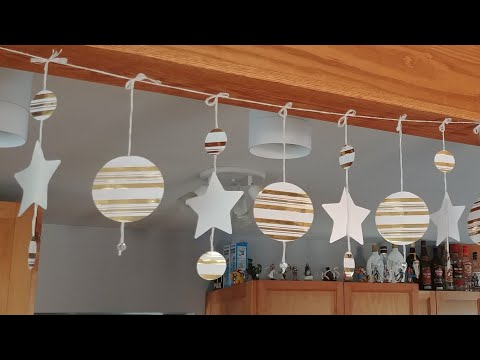 """Wrapping paper """"christmas"""" star banner DIY"""