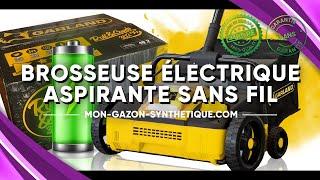 Vidéo: Brosseuse électrique aspirante sans fil