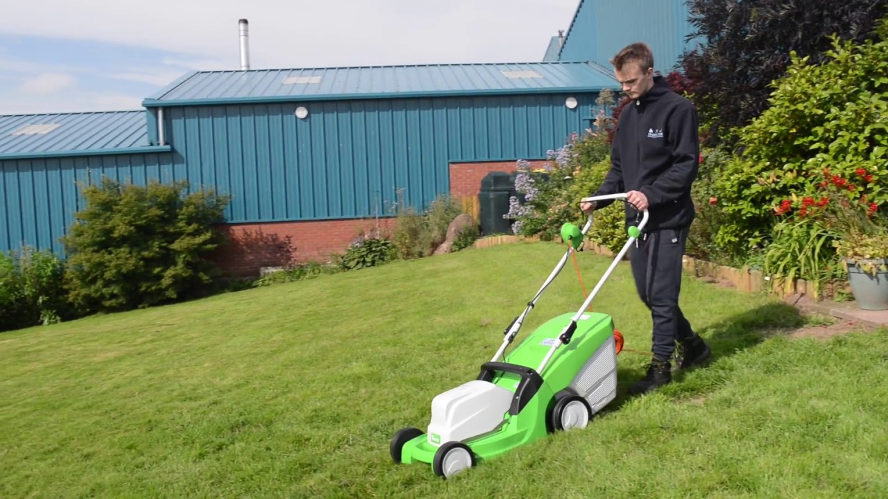viking me 443 electric powered lawnmower - low noise and low cost