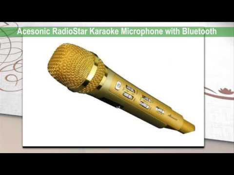 Acesonic RadioStar Karaoke Microphone with Bluetooth FM Transmitter