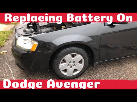 How To Remove A Battery On A 2007 - 2014 Dodge Avenger DIY