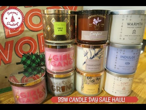 bath body works white barn candle day sale haul youtube. Black Bedroom Furniture Sets. Home Design Ideas
