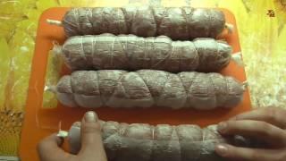 Колбаса из сурка горячего копчения