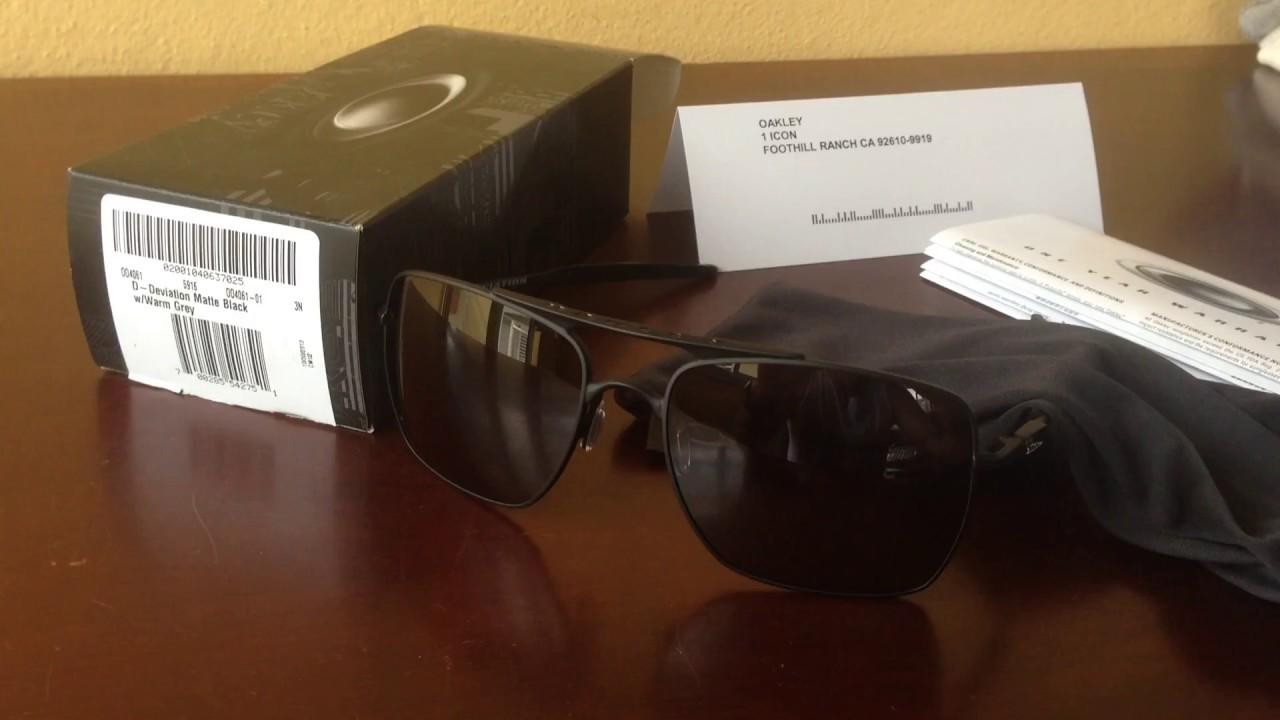 69a0b63b271b7 Oakley Deviation OO4091-01 - Óculos Escuros Aviador - Original - YouTube