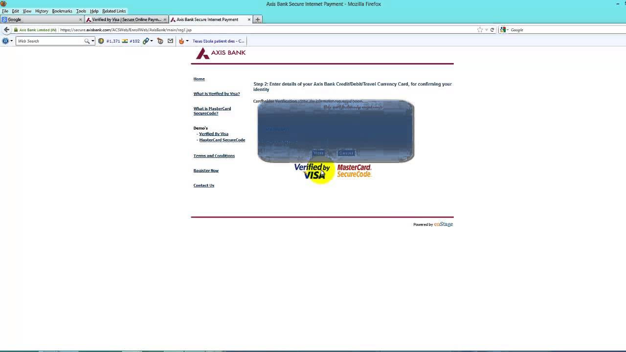 Solved Forgot 3d secure password axis bank