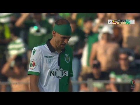 Falhanço Bas Dost: D. Aves - Sporting (Taça Portugal 17/18 #Final)