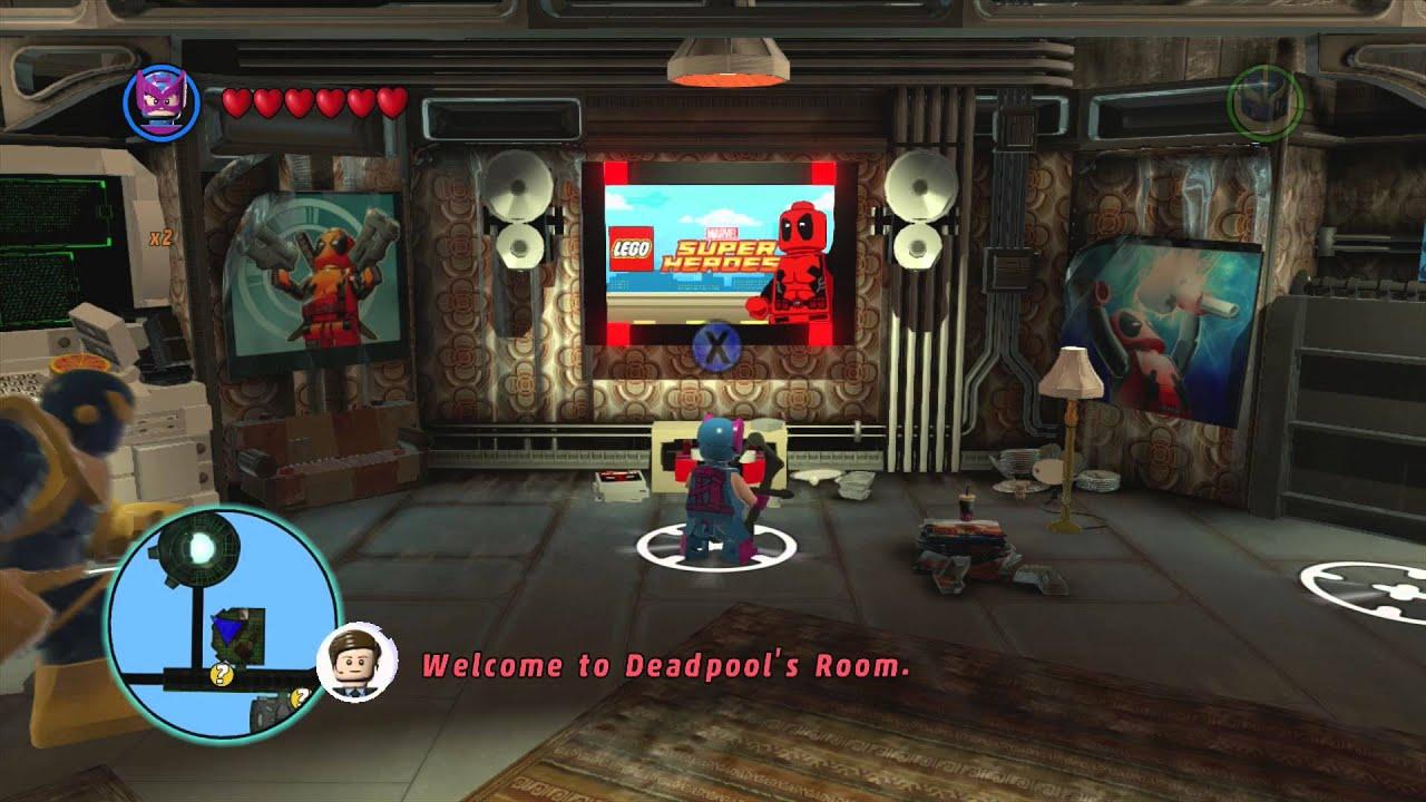 marvel lego deadpool room