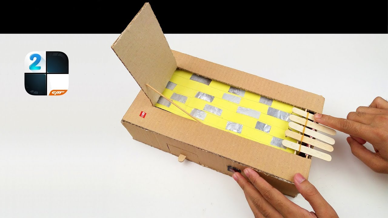 How to Make Piano Tiles 2 Game from Cardboard - YouTube