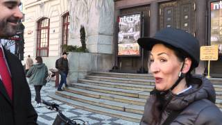 Do práce na kole s radní Udženijou